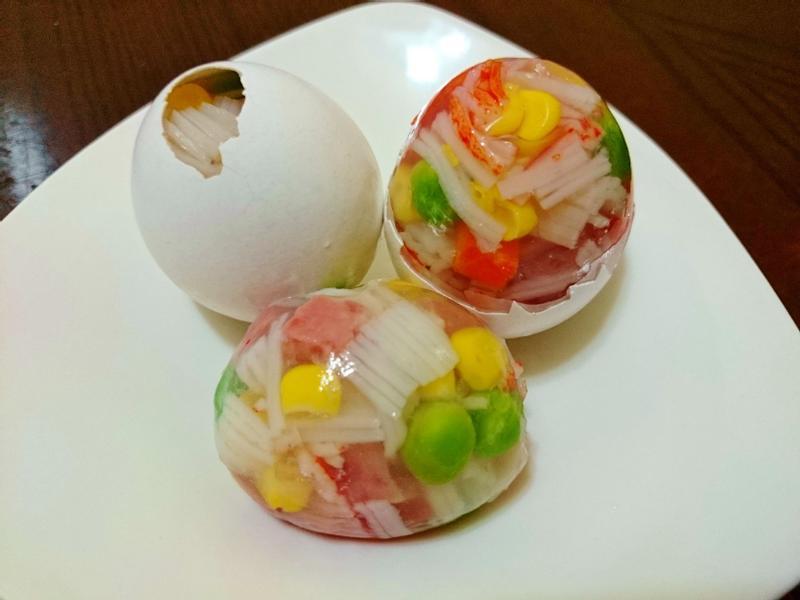 蟹味什錦琉璃蛋