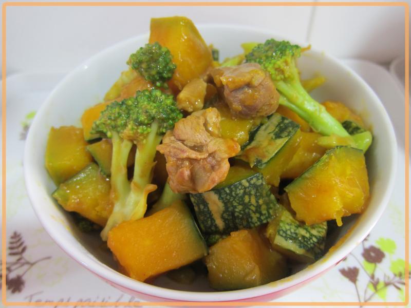 【牛頭牌咖哩塊】健康南瓜排骨咖哩料理