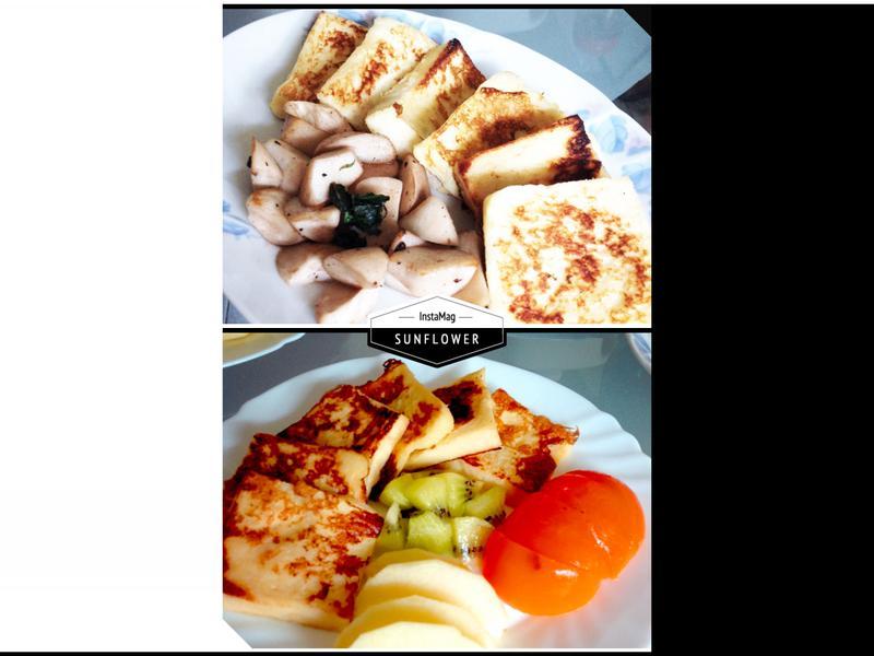 法式土司佐塔香鮮菇/鮮果