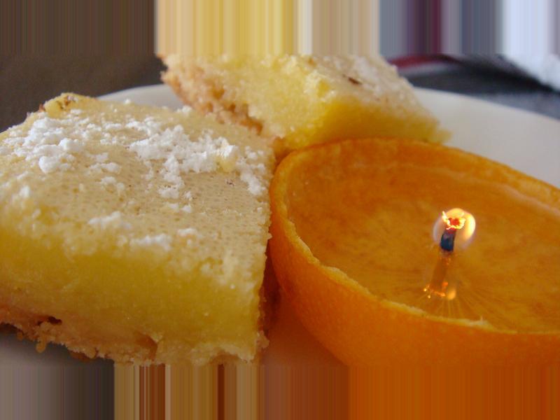 檸檬方塊+自製柑橘蠟燭