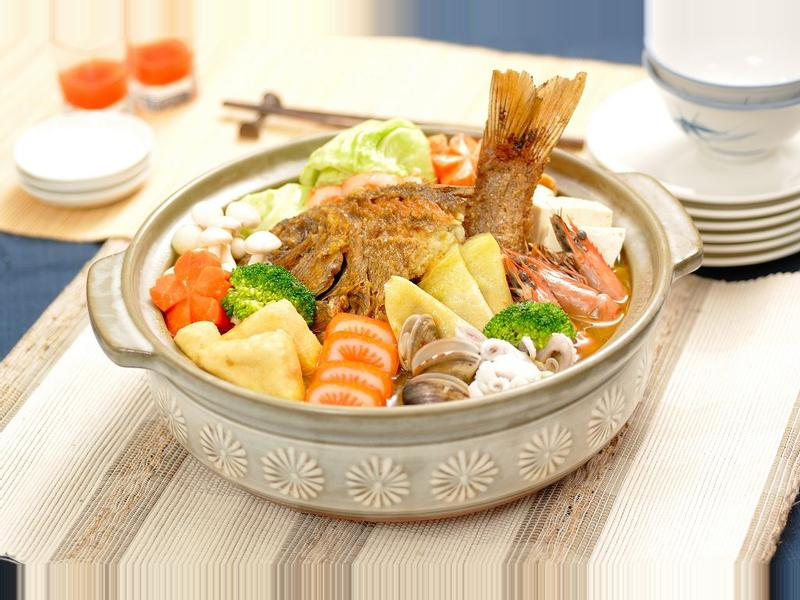 鯛魚咖哩什錦鍋[咖哩鍋]