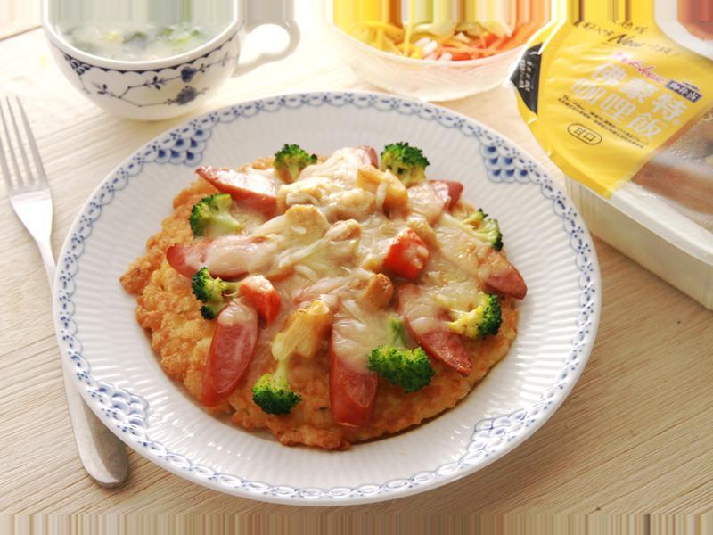 咖哩米Pizza 【7-11佛蒙特咖哩】