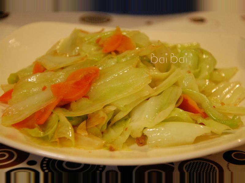 干貝醬炒高麗菜