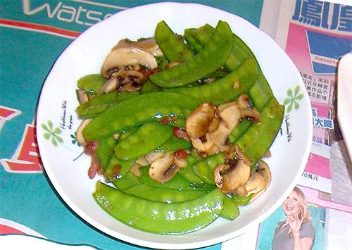 [ 5分鐘快炒] 洋菇炒豌豆莢