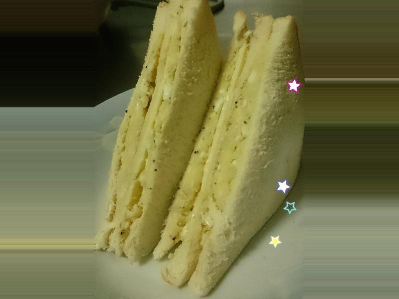 高麗菜薯泥蛋沙拉三明治