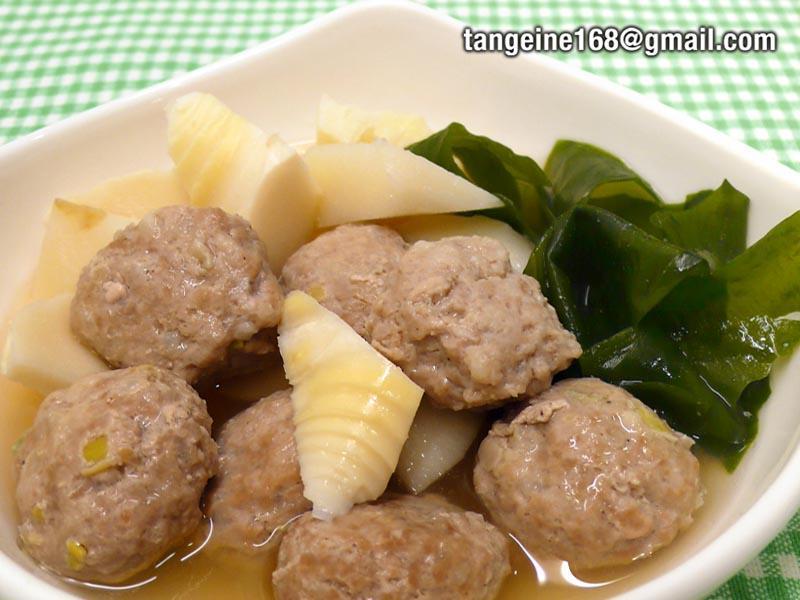 ♠mini獅子頭∼3♠  味噌竹筍燒肉丸