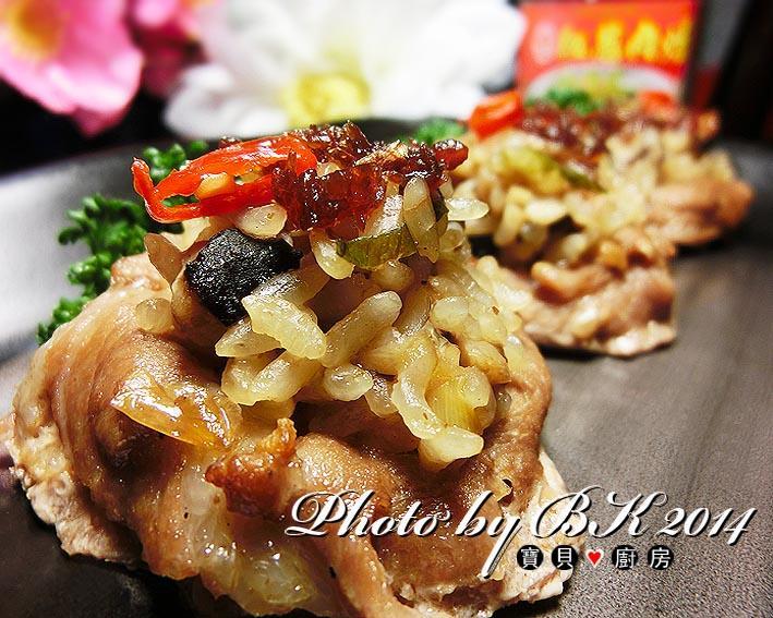 紅蔥肉燥鮮菇豚肉飯『牛頭牌端午好香拌』