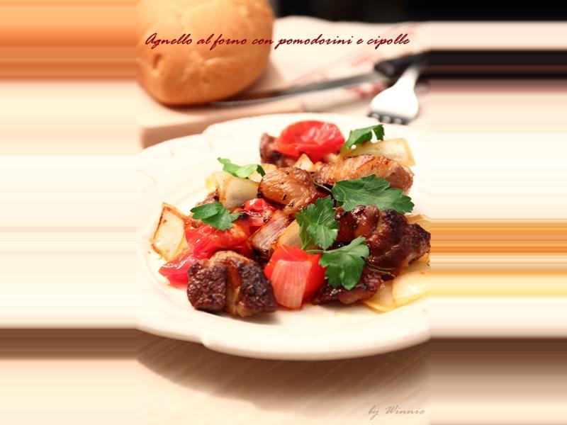 迷迭香烤羊肉佐番茄洋蔥