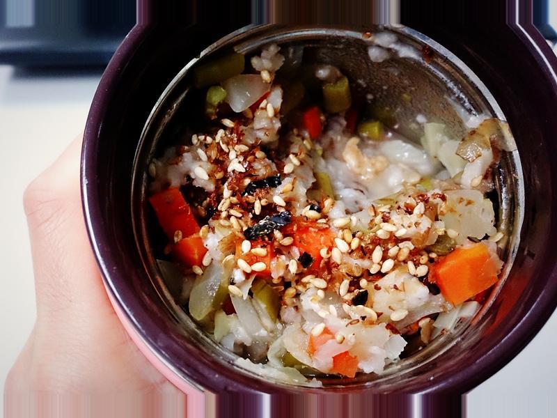 超簡易營養十穀粥~~辦公室必備悶燒罐!