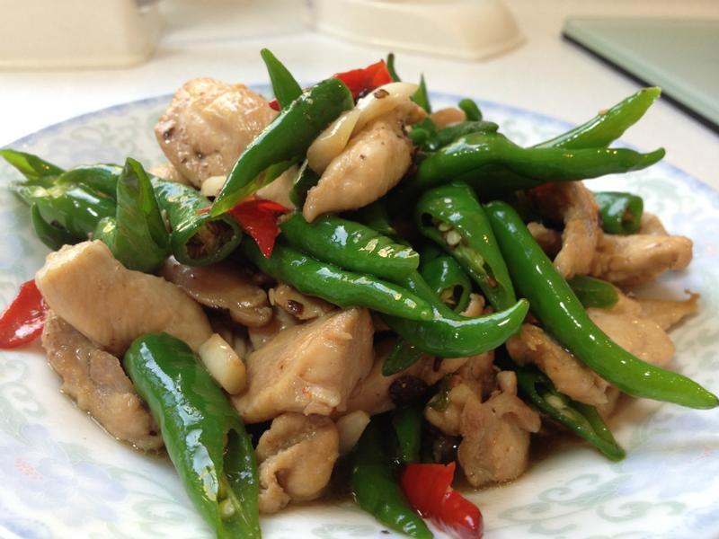 [十分鐘料理]雙色椒豆鼓炒雞柳