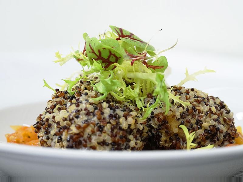 【蔬食料理】藜麥鷹嘴豆排佐蕃茄醬汁