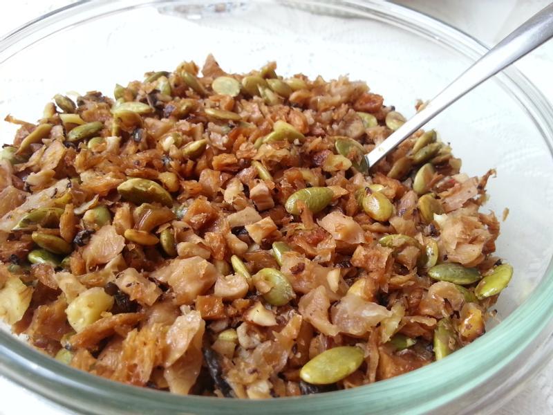 菜脯堅果香菇素燥