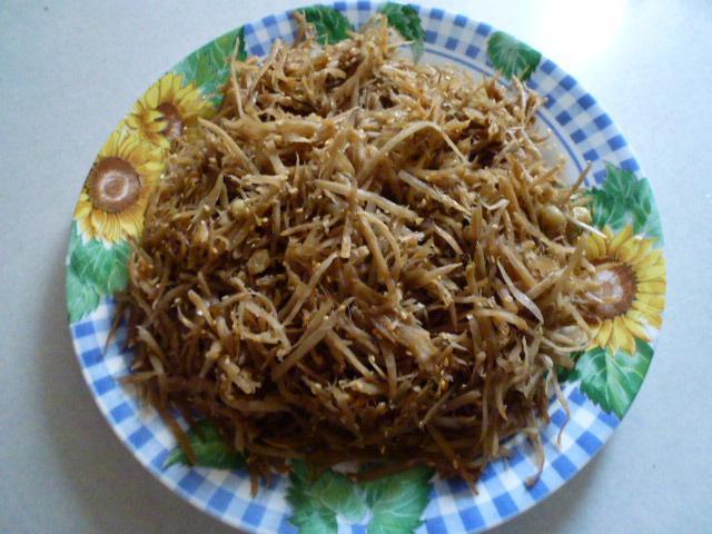 養身食物~日式炒牛旁絲