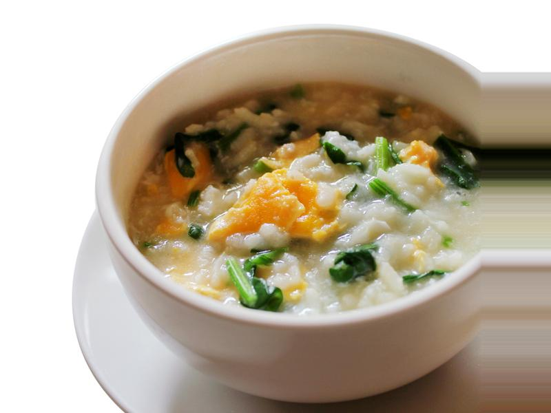 【厚生市集】菠菜雞蛋粥