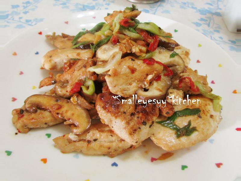 乾燒菇菇辣雞柳~淬釀年菜料理
