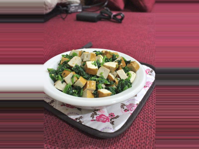 涼拌菠菜豆干