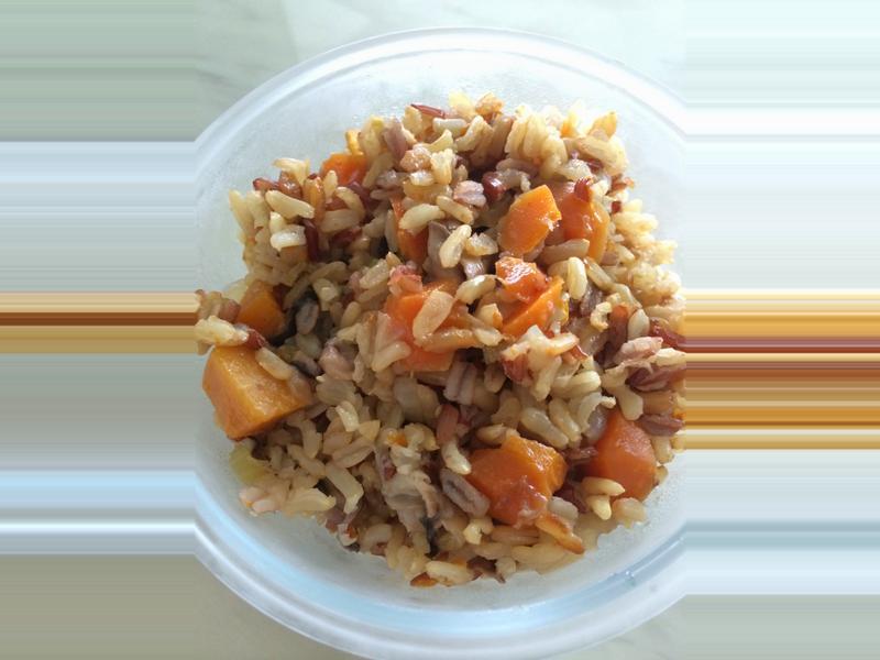 簡單輕食-南瓜炊飯