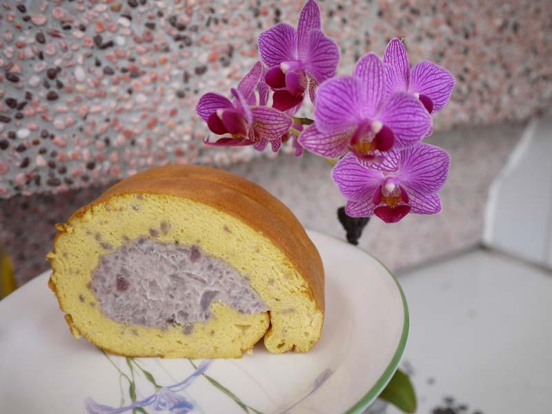 芋香蛋糕捲 減糖油版