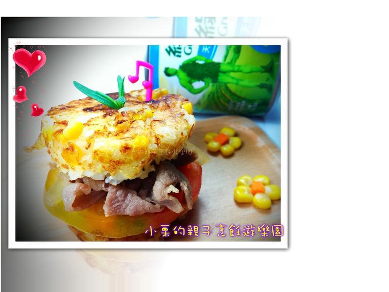 味噌玉米豚米堡