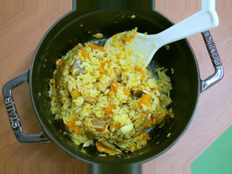 咖哩南瓜燉飯 [小湯的美味食譜]