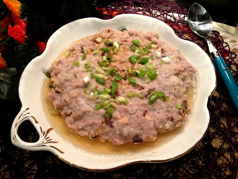 土魷馬蹄蒸肉餅