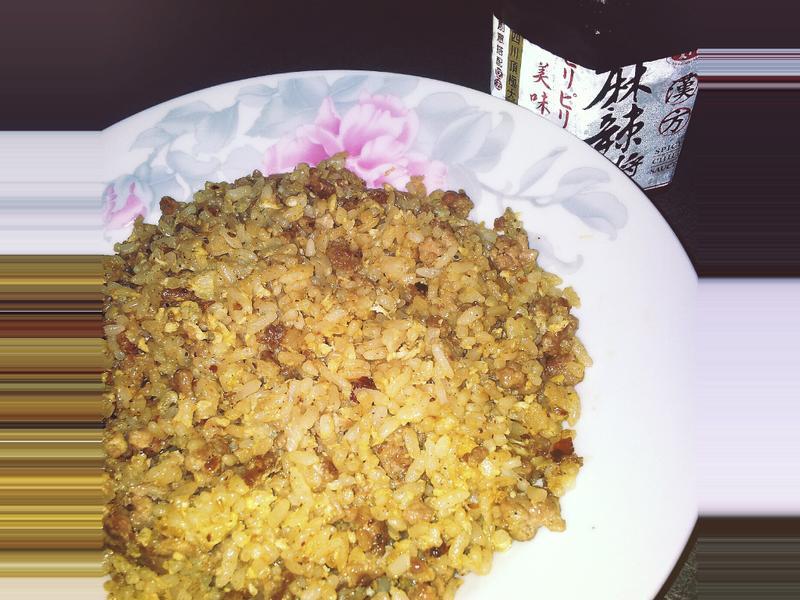香麻肉末蛋炒飯
