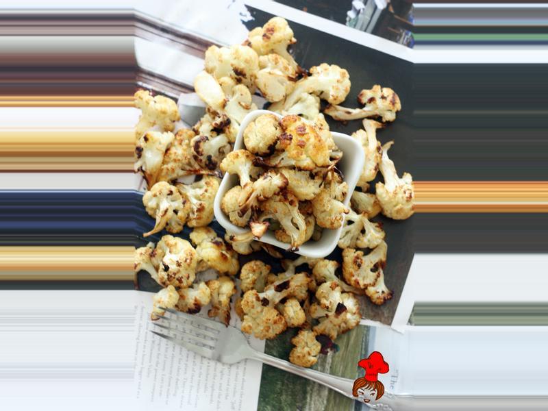 低脂健康零食 - 香料烤白花椰菜 Oven Baked Cauliflower