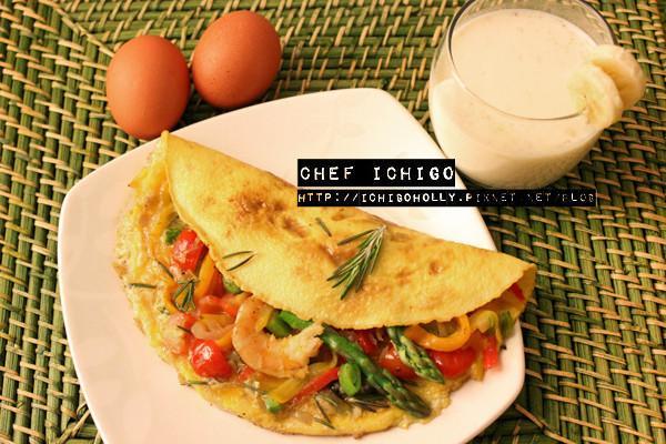 鬆軟香嫩厚燒美式蛋捲 Omelette