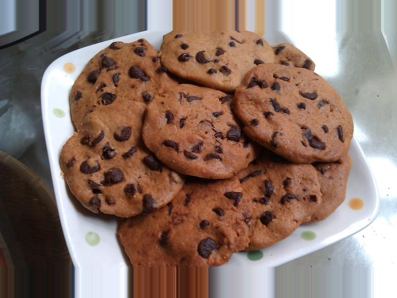 ㄚ芬的小廚房--巧克力豆餅乾