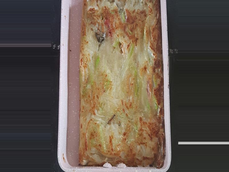 蒲瓜海鮮煎餅and焗烤海鮮蒲瓜