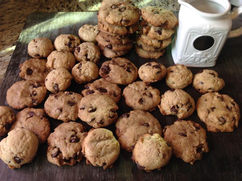美國傳統巧克力豆脆片餅乾♥!!