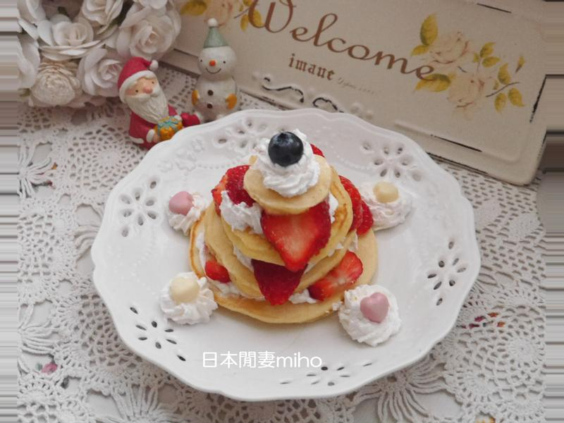 日本閒妻超簡單草莓聖誕樹鬆餅