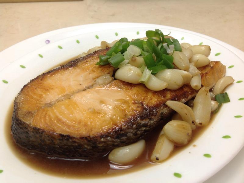 蒜頭醬燒鮭魚(家樂福廚神大賽)