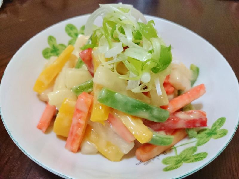 彩椒拌蘿蔔(味噌醬)