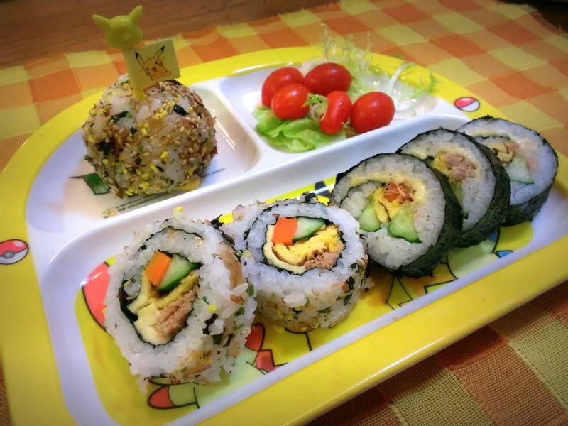 小朋友的美味壽司飯糰餐