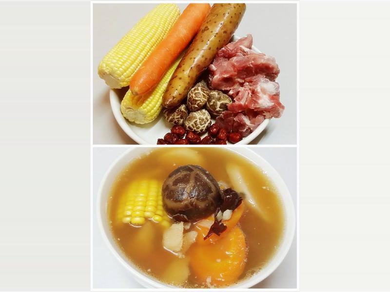 玉蜀黍淮山萝卜冬菇汤