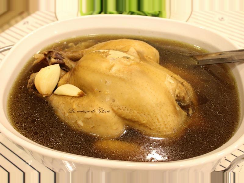 仙草蒜頭雞湯