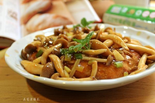薯泥肉餅燴鮮菇