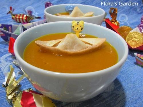 勞作料理-小船南瓜濃湯