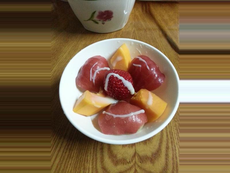 草莓水果拼盤~草莓就愛鷹牌煉奶