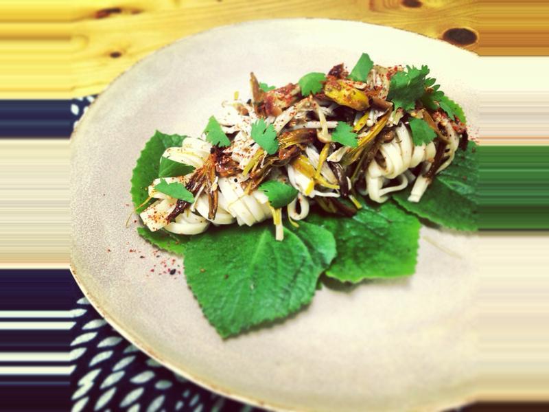 梅醬金針雞肉拌麵【台東農產好料理】