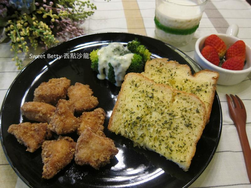 Brunch~雞塊大蒜厚片兒童套餐