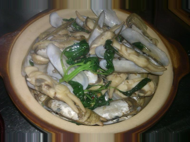 九層塔熱炒竹蛤