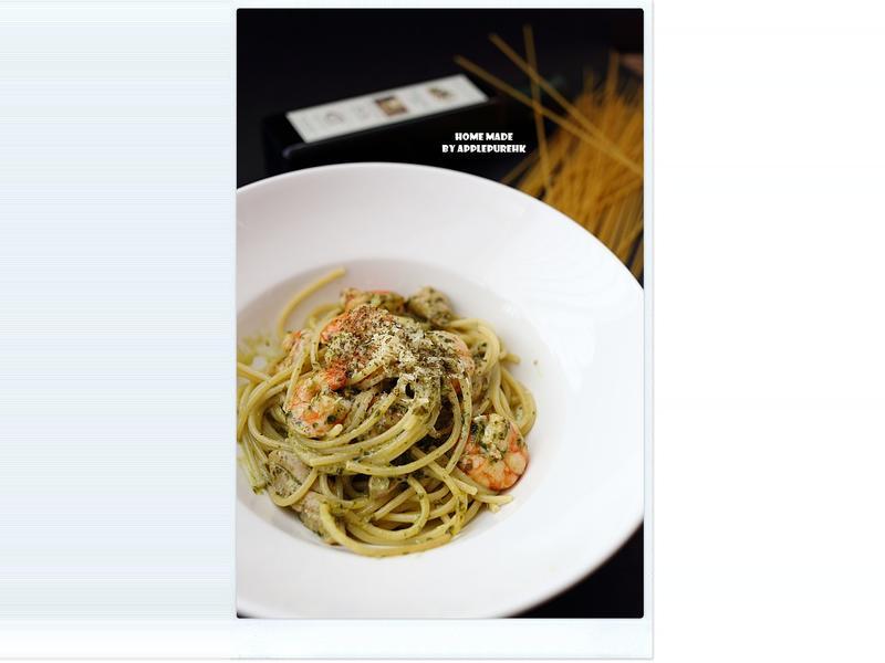 香草檸檬雞枊海蝦意大利麵