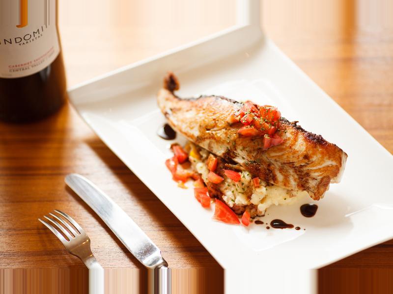 (超快速) 黃鰭鮪魚排佐黑栗醋醬