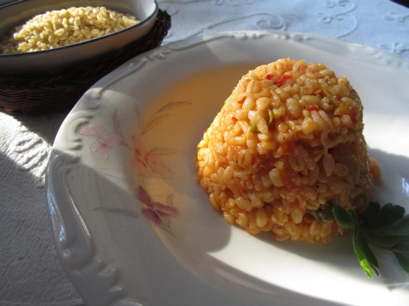 土式燉茄汁麥粒飯