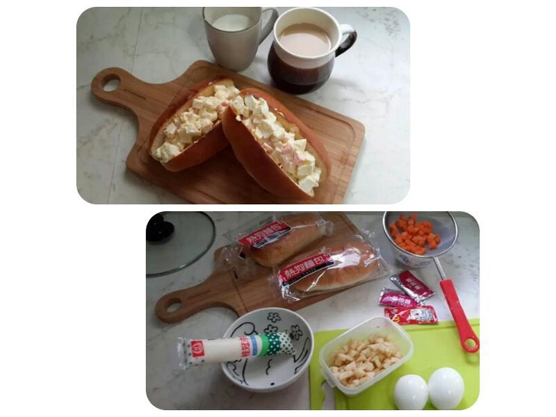 雞蛋蔬果沙拉熱狗堡