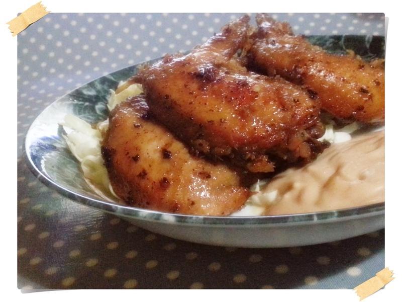 和風唐揚炸雞翅(附二種沾醬)