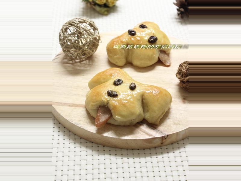 親子手做~五分鐘麵團之小狗麵包