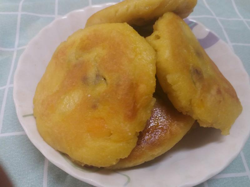 椰香地瓜紅豆餅🌞